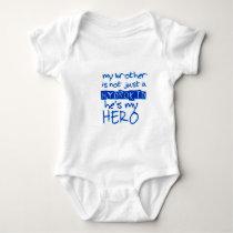 my brothers my hero baby bodysuit