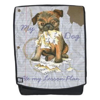 My Brussels Griffon Ate My Lesson Plan Backpack