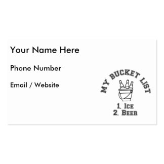 My Bucket List Humor - Ice & Beer Business Card