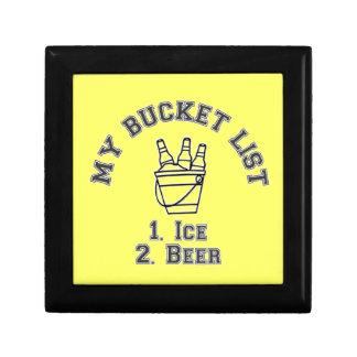 My Bucket List Humor - Ice & Beer Keepsake Box