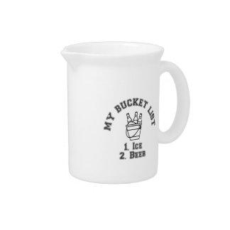 My Bucket List Humor - Ice & Beer Beverage Pitcher