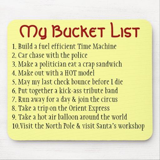 My Bucket List Mouse Pad