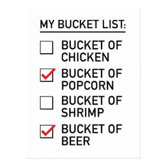 My Bucket List Postcard