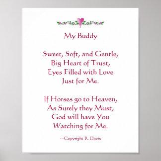 My Buddy - Horse Print