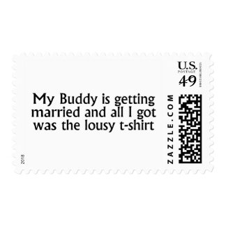 My Buddy Is Getting Married Postage