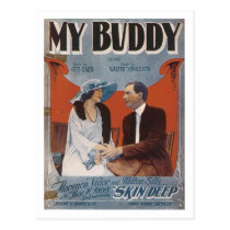 My Buddy Vintage Songbook Cover Postcard