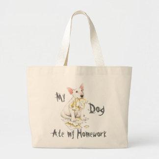 My Bull Terrier Ate My Homework Tote Bag