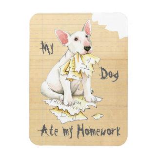 My Bull Terrier Ate My Homework Magnet