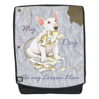 My Bull Terrier Ate my Lesson Plan Backpack