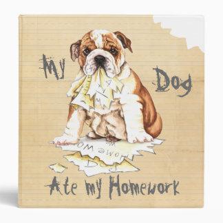 My Bulldog Ate My Homework 3 Ring Binder