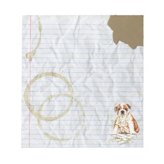 My Bulldog Ate My Lesson Plan Notepad
