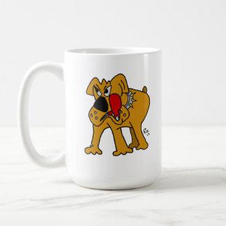 My Bulldog Color Cartoon Drawing Coffee Mug