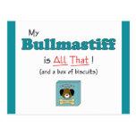 My Bullmastiff is All That! Postcard