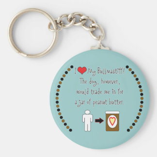 My Bullmastiff Loves Peanut Butter Key Chains