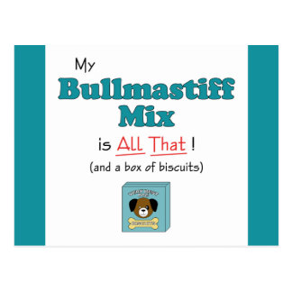 My Bullmastiff Mix is All That! Postcard