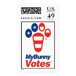 My Bunny Votes USA Stamp