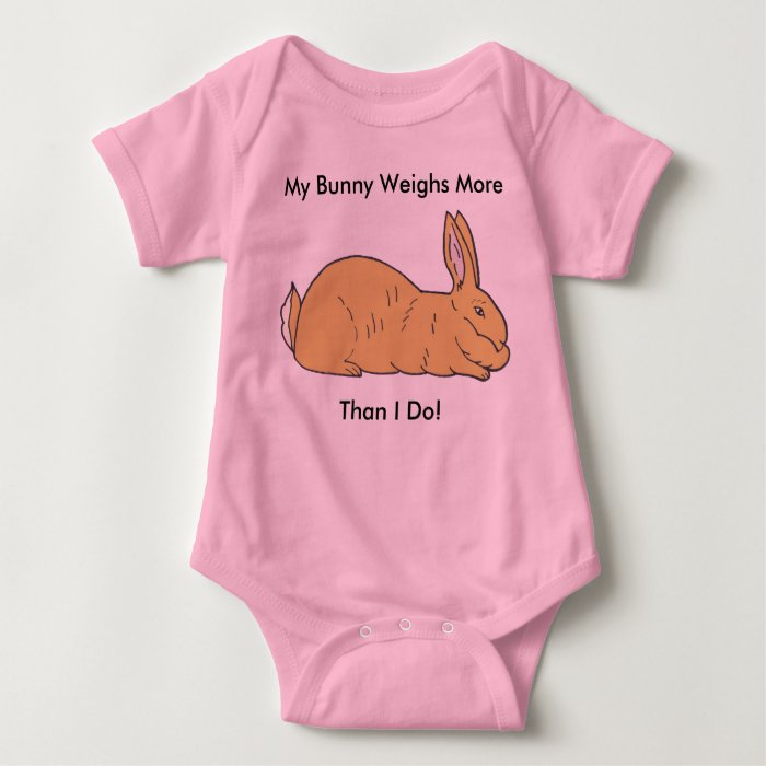 My Bunny Weighs More Than I Do! Rabbit Baby Baby Bodysuit