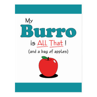 My Burro is All That! Funny Burro Postcard