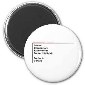 My Business Card The MUSEUM Zazzle Gifts Magnet