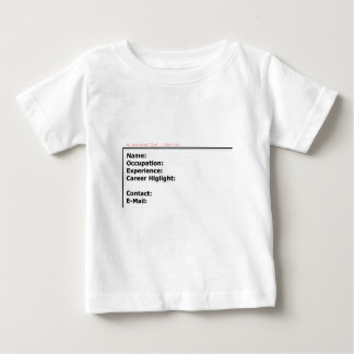 My Business Card White The MUSEUM Zazzle Gifts Baby T-Shirt