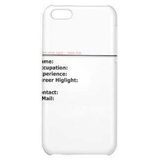 My Business Card White The MUSEUM Zazzle Gifts iPhone 5C Cover