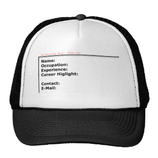 My Business Card White The MUSEUM Zazzle Gifts Trucker Hat