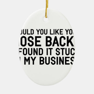 My Business Ceramic Ornament
