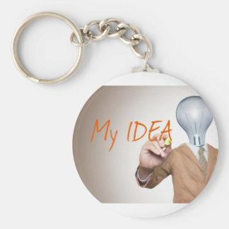 My Business Idea   Entrepreneurs, Boss, Startups Basic Round Button Keychain