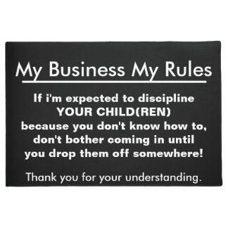 My Business My Rules for Kids Doormat