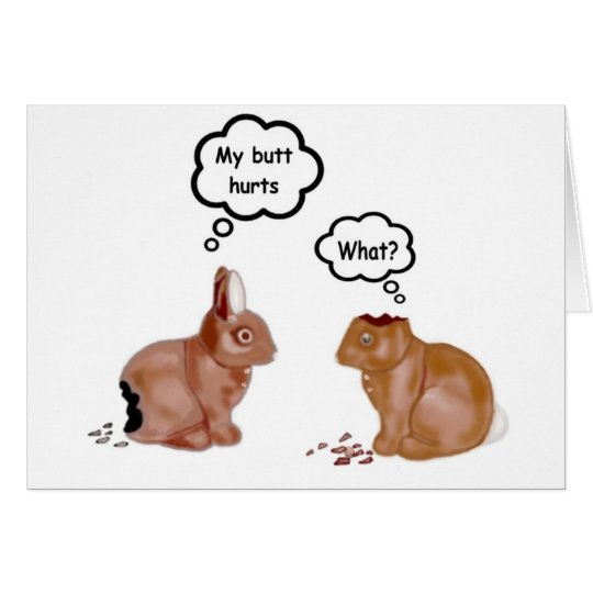 My Butt Hurts Bunnies Notecards Card
