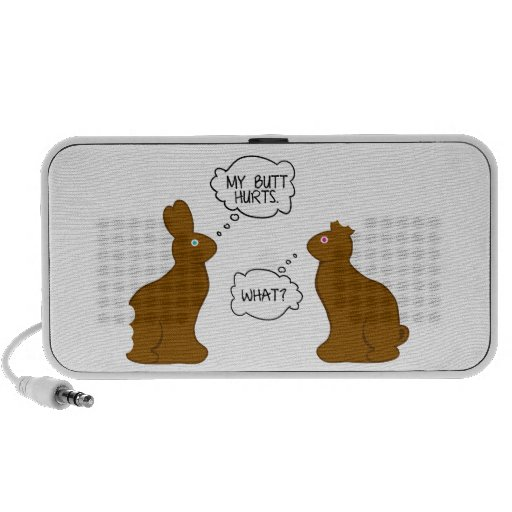 My Butt Hurts | Easter Bunnies Notebook Speakers