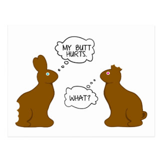 My Butt Hurts Easter Bunnies Postcard