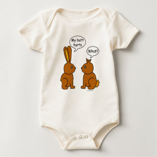 My Butt Hurts! - What? Baby Bodysuit