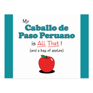 My Caballo de Paso Peruano is All That! Postcard