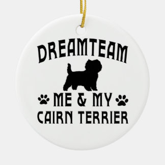My Cairn Terrier Dog Double-Sided Ceramic Round Christmas Ornament