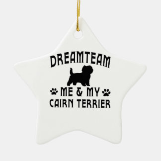 My Cairn Terrier Dog Double-Sided Star Ceramic Christmas Ornament