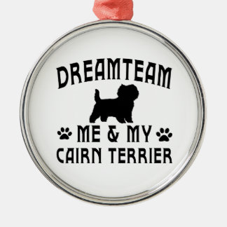 My Cairn Terrier Dog Round Metal Christmas Ornament