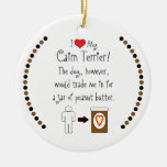 My Cairn Terrier Loves Peanut Butter Christmas Tree Ornaments