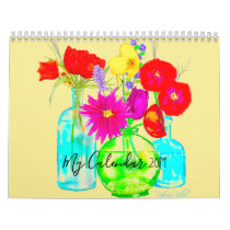 My Calendar 2019 Decorated with Colorful Flowers