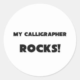 MY Calligrapher ROCKS! Round Stickers