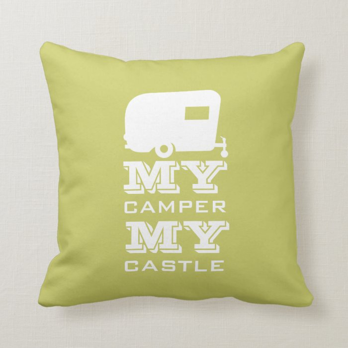 My Camper My Castle - RV Camping Pillow