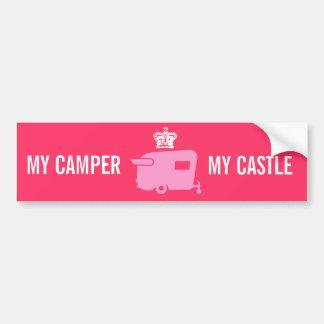 My Camper - My Castle- Travel Trailer Humor Car Bumper Sticker