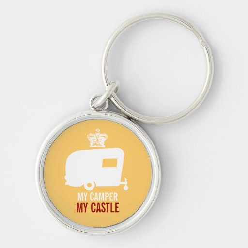 My Camper My Castle - Vintage RV Camping Keychain