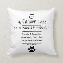 My Cancer Canine 16 x 16 Pillow Zodiac Pets