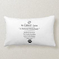 My Cancer Canine Zodiac Lumbar Pillow
