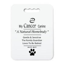 My Cancer Canine Zodiac Stadium Dog Park Cushion