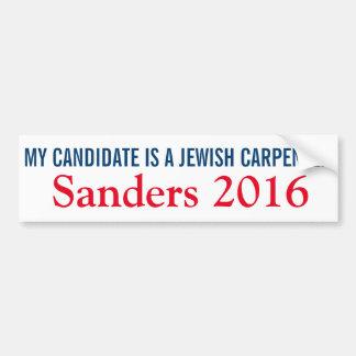 My Candidate is a Jewish Carpenter Car Bumper Sticker