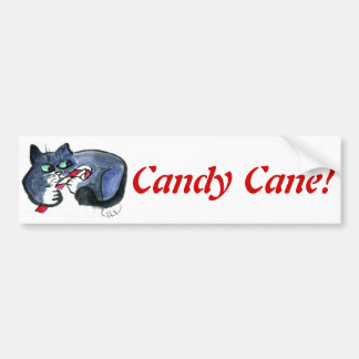 My candy cane, says tuxedo cat [cat holiday 21] car bumper sticker