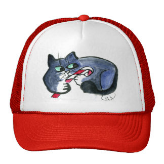 My candy cane, says tuxedo cat [cat holiday 21] trucker hat