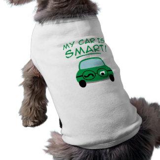 My Car Is Smart Doggie Tshirt